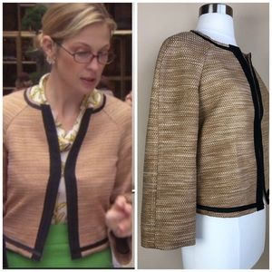 DOLCE & GABANNA GOLD/TAN TWEED JACKET 12